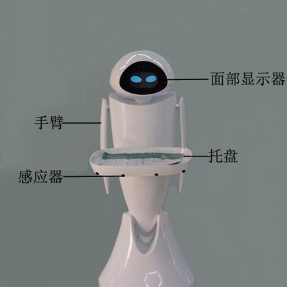 最新推出无轨机器人可360°旋转可只能避让语音对讲