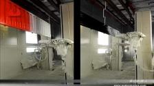 泰达机器人 全行程同步跟踪往复式喷涂货车箱板
