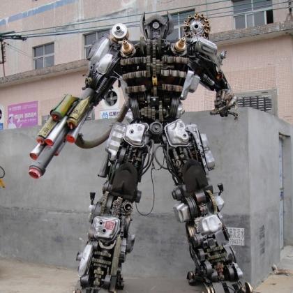 金属诱惑智能艺术机器人厂家活动展会主题公园3米高机器人