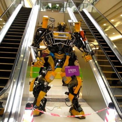 金属诱惑智能艺术机器人厂家艺术迎宾机器人展会主题公园机器人模型高3米
