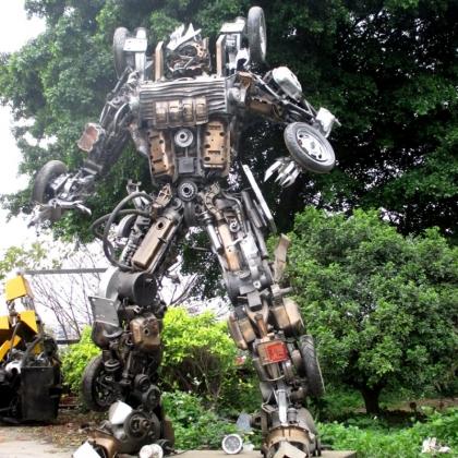 广州金属诱惑智能艺术机器人迎宾展示活动暖场道具机器人高3米