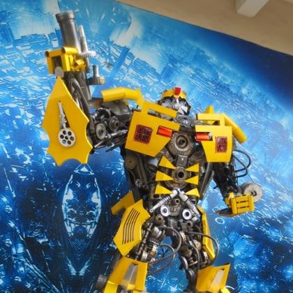广州金属诱惑智能艺术机器人商场房地产活动机器人道具人气首选高约3米