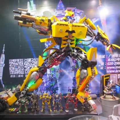 餐厅KTV酒吧主题公园装饰道具智能艺术机器人展会活动暖场高约3米