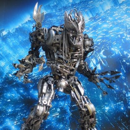 房地产商场暖场活动人气必备道具机器人展示广州金属诱惑智能艺术机器人高约3米
