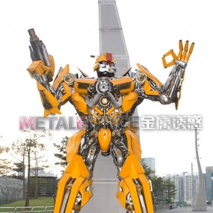 广州房地产商场暖场活动指南迎宾机器人租赁金属诱惑机器人厂家高约5米
