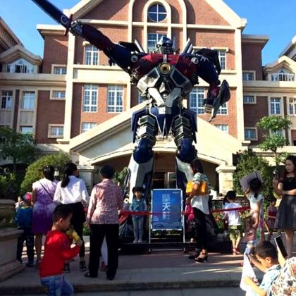 广州金属诱惑智能艺术机器人厂家变形金刚机器人迎宾展示展会商场活动暖场高5米