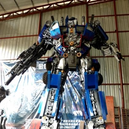 变形金刚机器人房地产商场暖场活动道具机器人租赁智能迎宾跳舞机器人高约5米