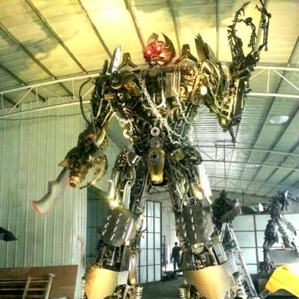 变形金刚机器人房地产商场暖场活动道具机器人租赁智能机器人高约5米