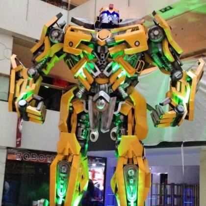 开业庆典商场发地产活动机器人智能迎宾跳舞机器人租赁定制厂家高约6米