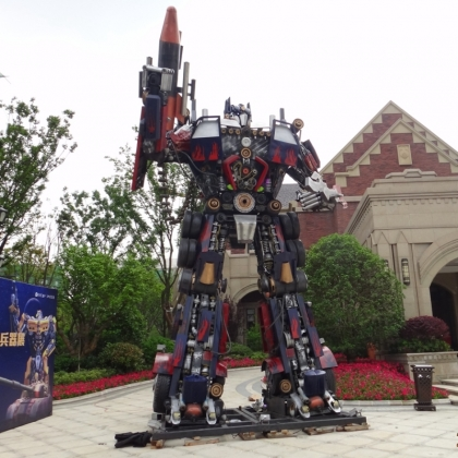 智能跳舞机器人展会展览哪家比较好迎宾机器人餐厅厂家直销高约8米