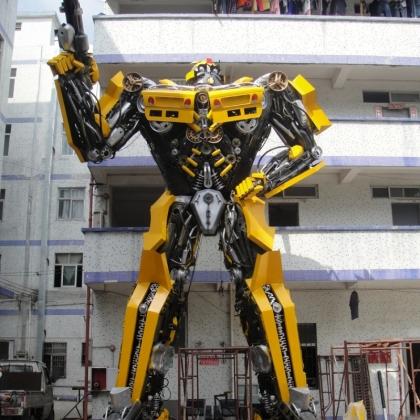 送餐机器人智能机器人迎宾机器人金属诱惑厂家展馆展会活动道具高约8米