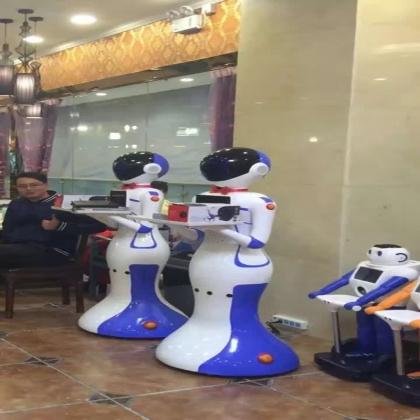 厂家生产餐厅送餐机器人智能机器人服务员传菜机器人语音迎宾机器