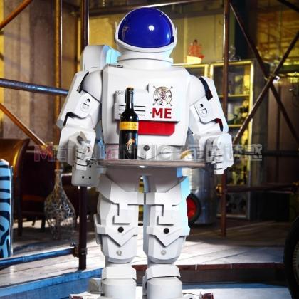 送餐机器人餐厅服务迎宾行走移动机器人金属诱惑服务机器人