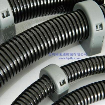 福莱通机器人线路紧固夹 圆管带盖固定座 波纹管固定支架批发
