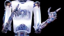 塔米小罗机器人与陈伟霆共同主持金鹰奖