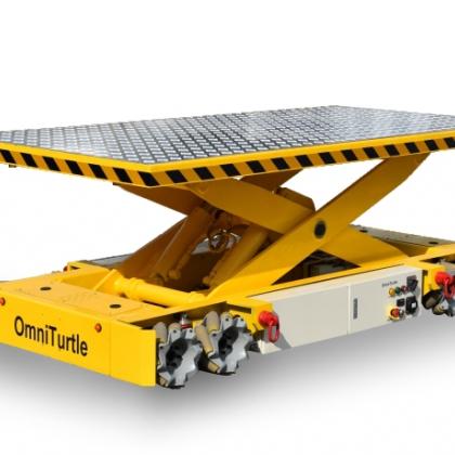 数字化工厂物料搬运全方位移动重载全向移动机器人平台