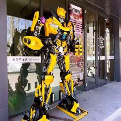 大型变形金刚房地产KTV活动迎宾机器人高度外型可定制厂家供应 支持租赁出售