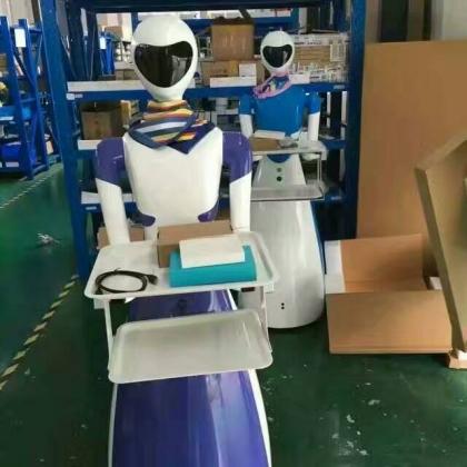 新款美女机器人餐饮机器人
