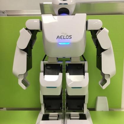 乐聚小艾机器人智能机器人踢足球机器人