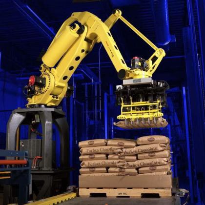 化肥搬运机器人/饲料垛码机器人/负重机器人/那智LP负重码垛机器人系列