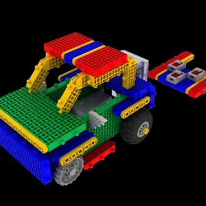 韩端教育机器人Goma_BrainA、ABS材质、创客教育机器人,拼装类积木