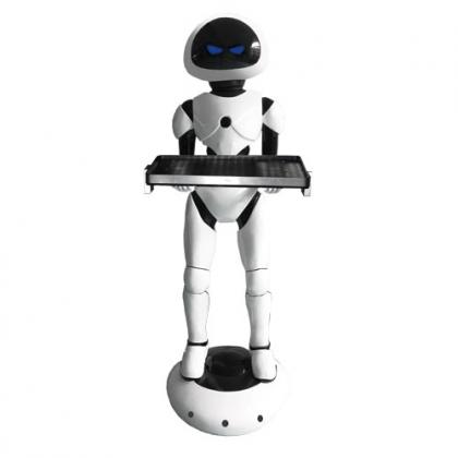 洼赛第四代送餐机器人——外星人,餐厅机器人服务机器人
