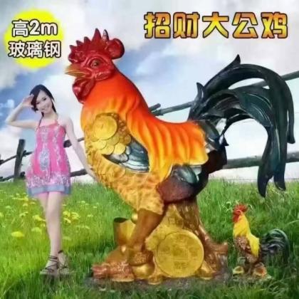 2017吉祥如意鸡出租出售玻璃钢小鸡模型出租出售