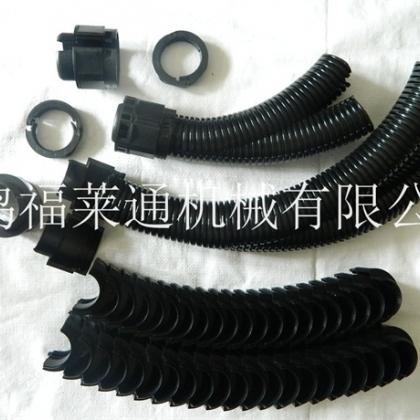 甘肃智能机器人专用双开口尼龙软管 双层剖开自锁式波纹管 保护线缆
