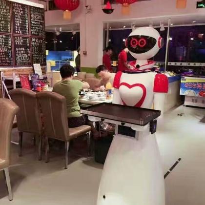 诺比机器人厂家特价促销迎宾送餐机器人服务员点餐传菜端菜