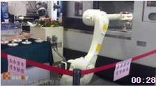川崎机器人机床上下料展示 东莞川崎机器人
