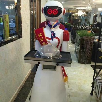 餐厅机器人服务员送餐机器人迎宾点餐饭店传菜端菜语音对话聊天