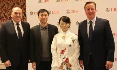 """中国科大智能机器人""""佳佳""""对话英国前首相卡梅伦"""