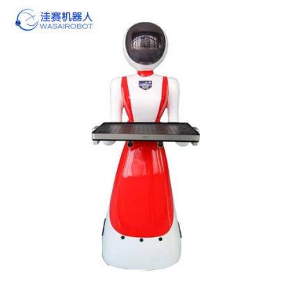 洼赛第三代江南美女送餐机器人,餐厅服务机器人价格