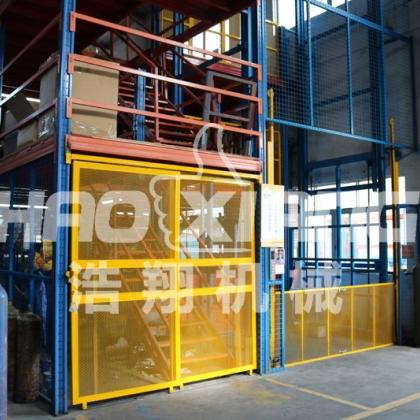 专业订做工厂小型导轨简易链条式货梯电动升降机液压固定升降平台