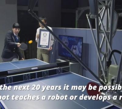 全球首款乒乓球导师机器人获吉尼斯世界记录