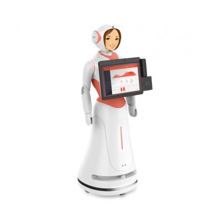 商用服务机器人自主迎宾 银行机器人