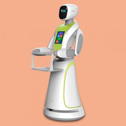 火锅店餐厅智能送餐传菜送菜端菜迎宾保姆服务机器人传菜机服务员