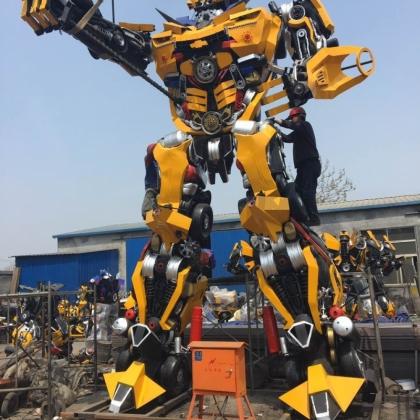 6米高全新可喷火的变形金刚大黄蜂模型出租