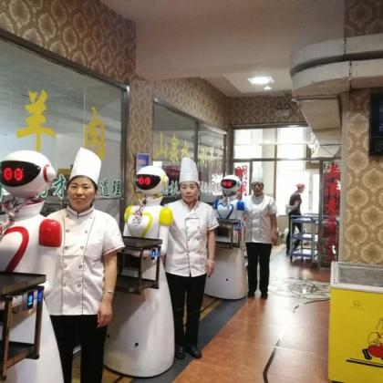 潍坊优米智能科技研发诺比智能服务机器人送餐 迎宾 点餐 对话