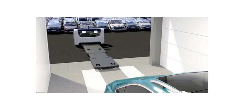 法国机场用机器人泊车 能够举起汽车