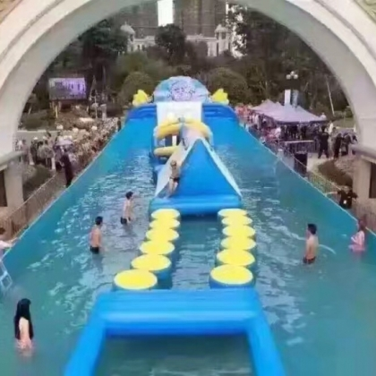 水上冲关现货出租大型水上泳池赛道租赁