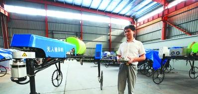 机器人喷农药 胜过壮劳力