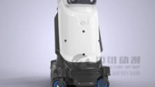 自动洗车机器人三维演示动画制作