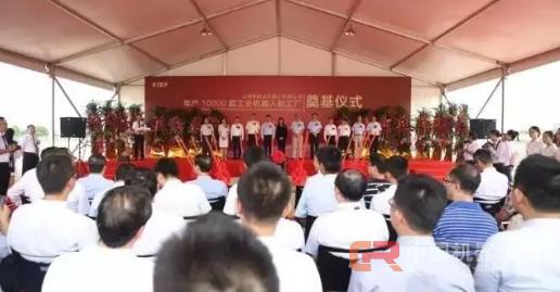 可年产10000台工业机器人,上海新时达机器人有限公司新工厂奠基仪式隆重举行
