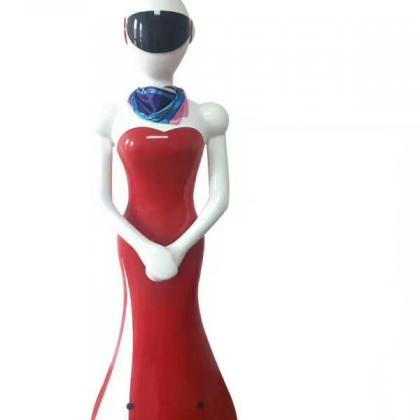 潍坊威朗餐厅酒店智能送餐传菜迎宾对话机器人服务员
