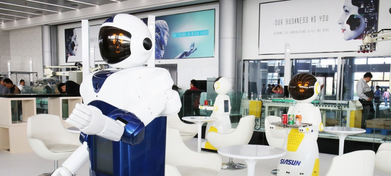 """服务业迎来""""人工智能""""时代:机器人悄然进入百姓生活"""