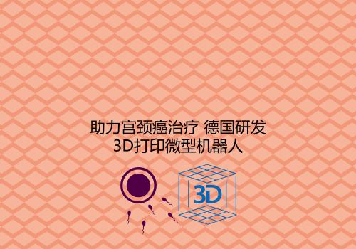助力宫颈癌治疗 德国研发3D打印微型机器人
