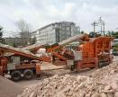 建筑垃圾移动破碎站的型号每天可破碎多少城市垃圾