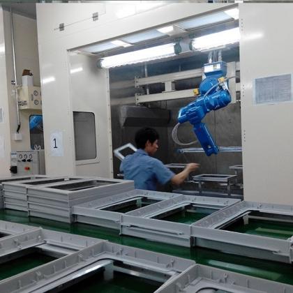 机器人喷涂线  自动喷涂线