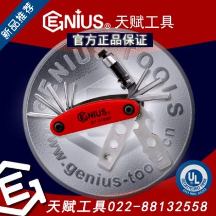 GENIUS天赋工具15件套多功能折叠扳手组内六角6角扳手组BT-015MF